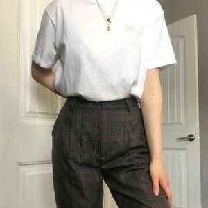 Oak + Fort Plaid Dress Pants